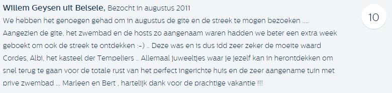 Willem Geysen uit Belsele, Bezocht in augustus 2011